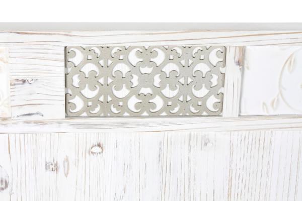 Cabero de madera tallada Mónaco con medida 160x4'5x85 cm